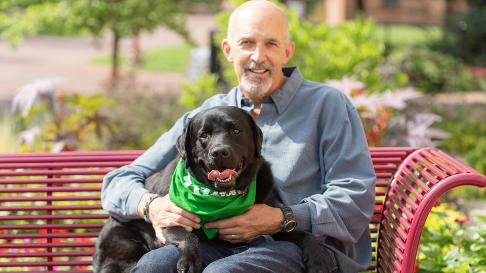 Photo of Phil Tedeschi with his dog