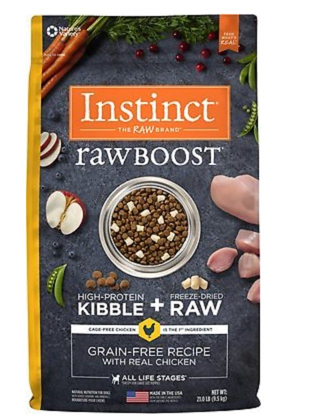 Nature's Variety Instinct Raw Boost Kibble and Freeze-Dried Food