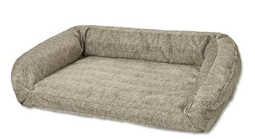 Orvis Tough Chew Indestructible Bolster Dog Bed