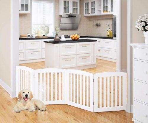 Pawland Wooden Freestanding Foldable Dog Gate