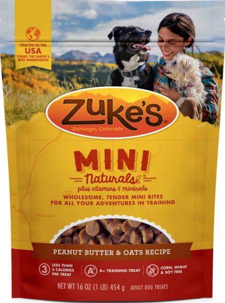 Zuke's Mini Naturals Peanut Butter and Oats Training Treats