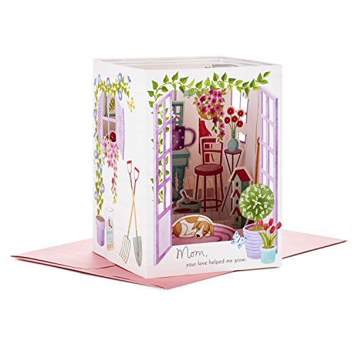 3D Pop-Up Dog in Greenhouse Dog Mother's Day Card