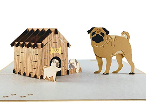 3D Pop-Up Pug Family Mothers Day Cards