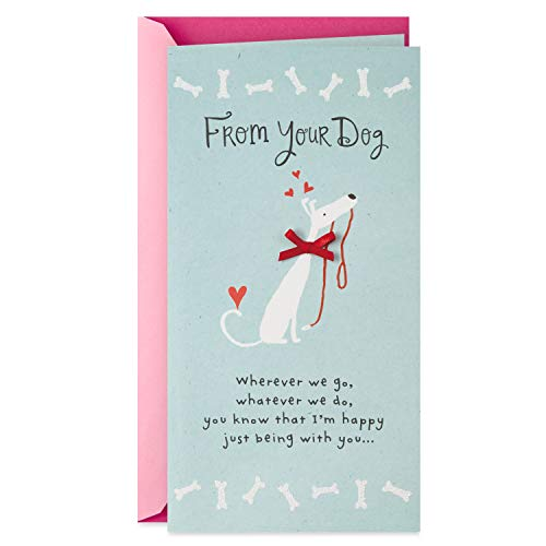 dog with red bow Mother's Day card