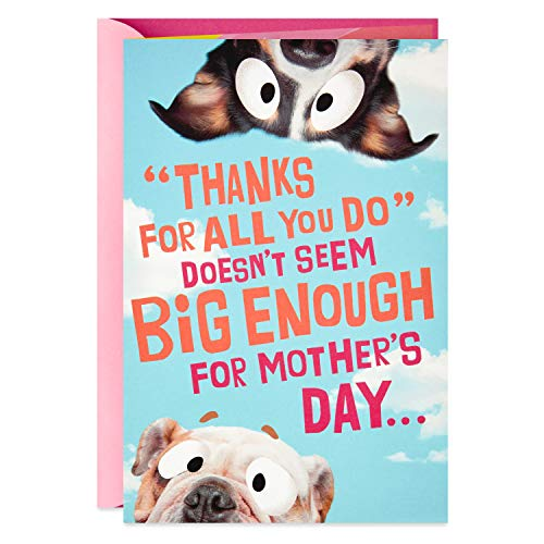 Funny Dog Banner Pop-Up Mother's Day Card