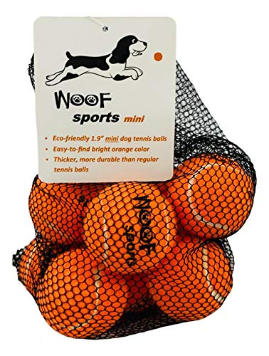 Woof Sports Small Eco-Friendly Tennis Balls for Dogs