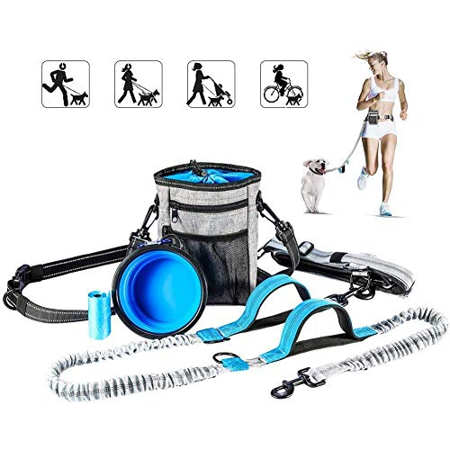 YouThink hands-free leash with treat pouch
