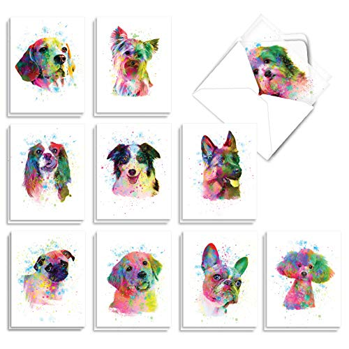 funky rainbow dogs Mother's Day cards