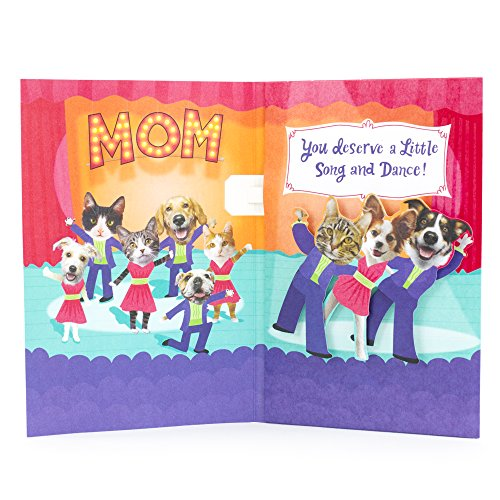 Dancing Cats and Dogs Mother's Day Card