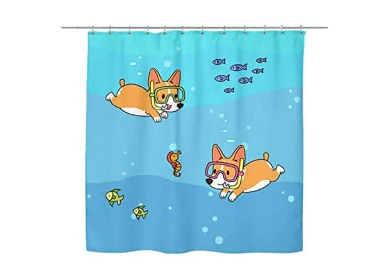 Corgi Gift Curtain