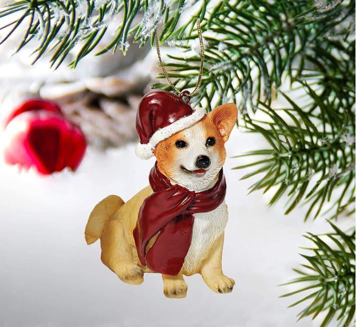 Corgi Gift Christmas Ornament