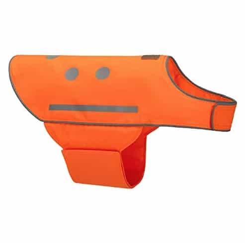 Spot the Dog orange reflective safety vet
