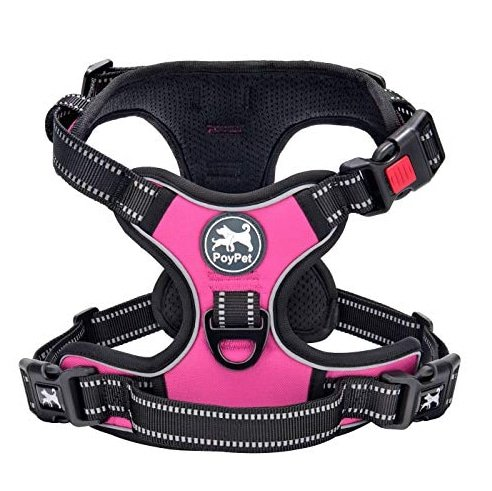 PoyPet No-Pull Dog Harness in pink