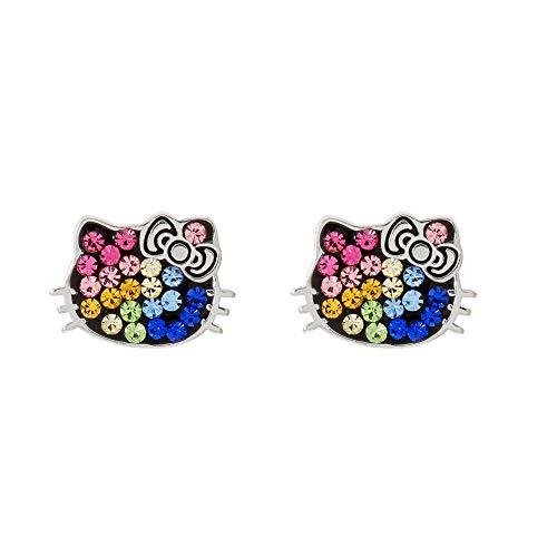 Hello Kitty colorful rhinestone pair