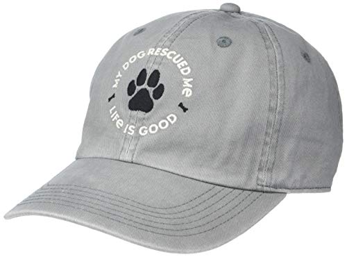 """""""My Dog Rescued Me"""" Life is Good cap"""