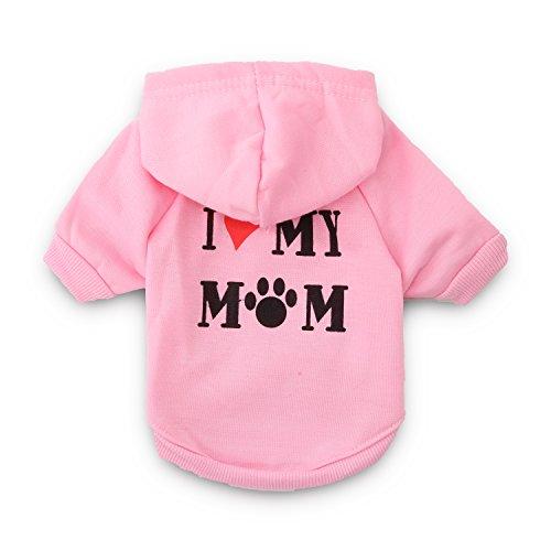 """""""I Love My Mom"""" dog hoodie"""