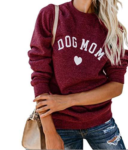 """""""Dog Mom"""" heart sweatshirt"""