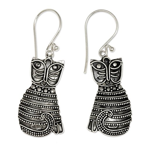 handcrafted sterling silver Balinese-style kitties