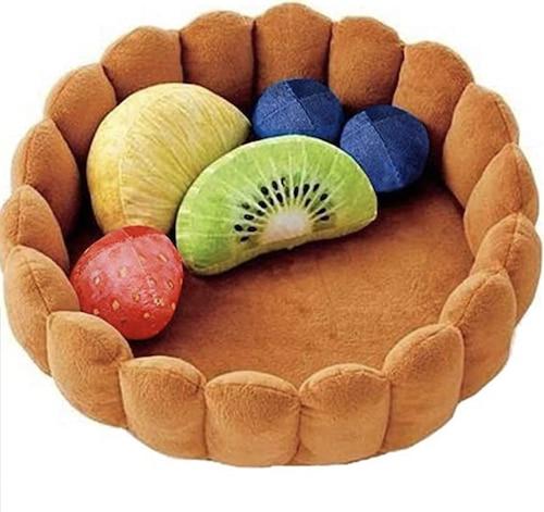 classic fruit tart cat bed
