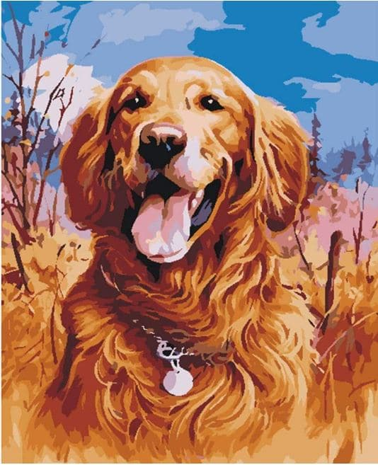 Golden Retriever Gift Painting