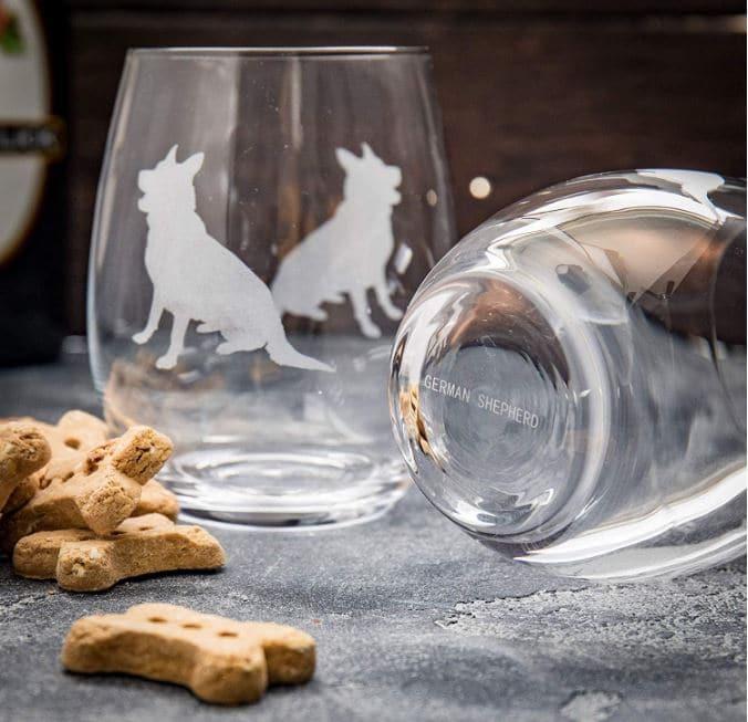 German Shepherd Gift Wine Set