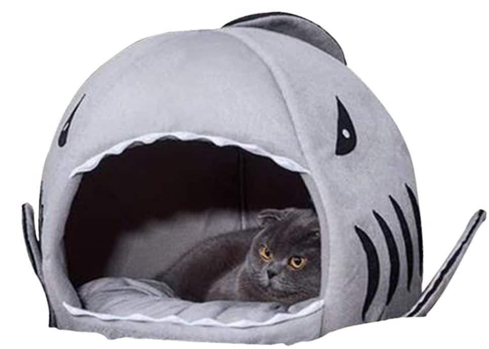 Shark Cave Cat Bed
