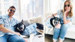 Dog Hawaiian Shirts Dog Threads Surf's Up BBQ matching dog and family Hawaiian shirt