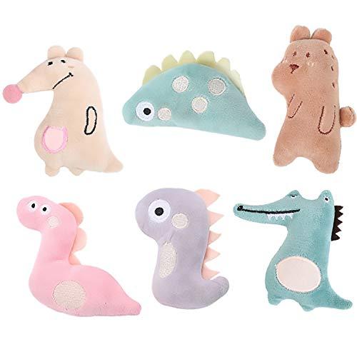 Six pastel Elopaw plushes in stylized animal shapes