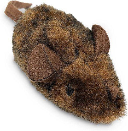 Brown Pet Zone mouse with soft ears and tail