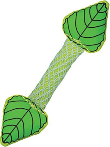 Petstages kitten teething toy rod with plastic mint leaves on ends