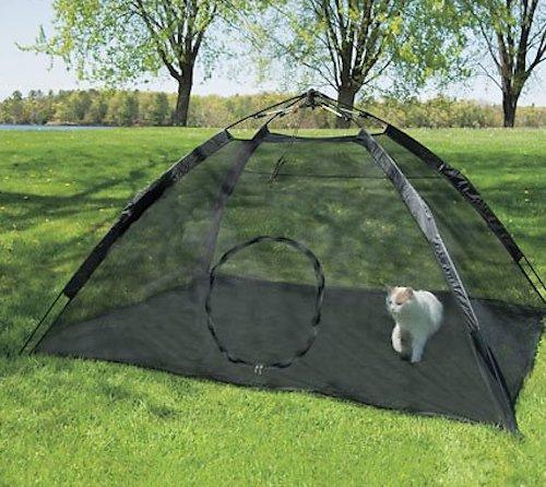 Mesh outdoor kitten playpen tent