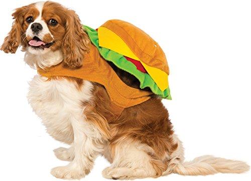 dog dressed as hamburger
