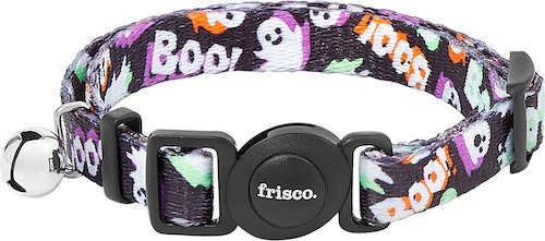 """Frisco Halloween collar with ghosts and """"boo!"""""""