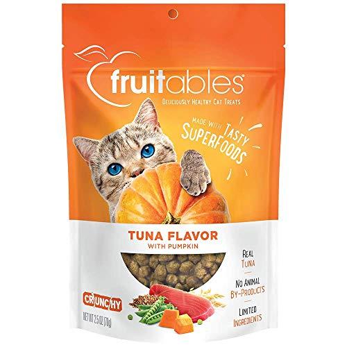 Bag of fruitables tuna-flavor pumpkin cat treats