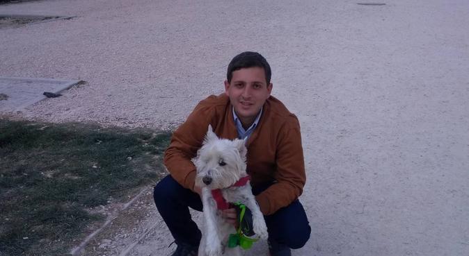 Paseo relajante para tu mascota, canguro en Madrid, España