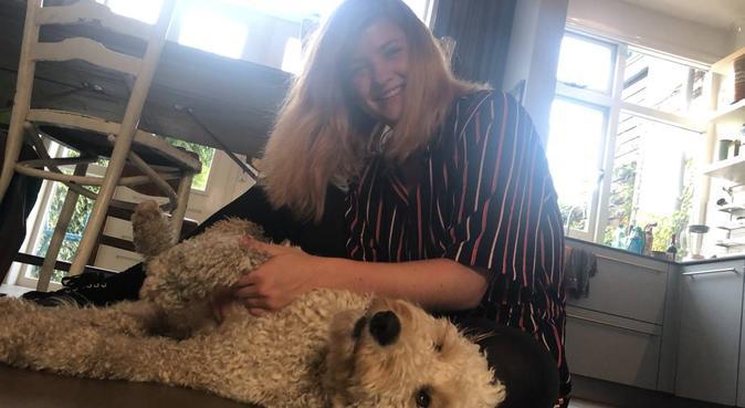 Beginnende hondenliefde, hondenoppas in Amsterdam