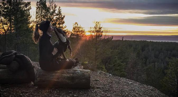 Tur i skogen og masse kos🐶🐾, hundepassere i Oslo
