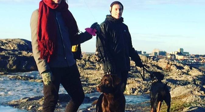 Hundvan kille på Näset, hundvakt nära Skanör