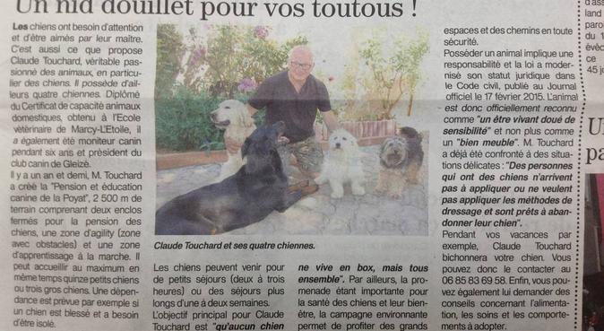 pension et éducation canine de la Poyat, dog sitter à Messimy-sur-Saône