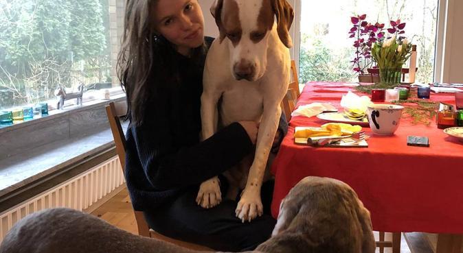 Friluftsintresserad lundabo, hundvakt nära Lund